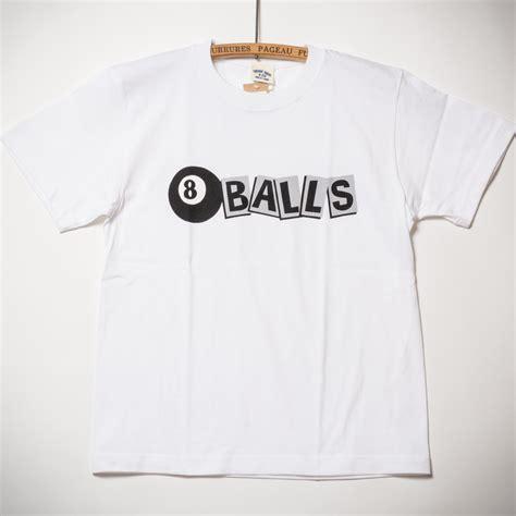 Balls 5 T Shirt 5 6oz cotton t shirts 8 balls white tシャツ 8ボールズ ホワイト