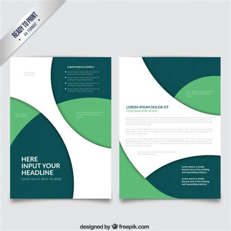 green brochure template brochure template with green circles vector free
