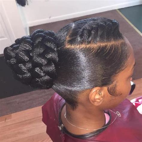 Braided Bun Hairstyles For Black Hair by 50 Updos For Hair