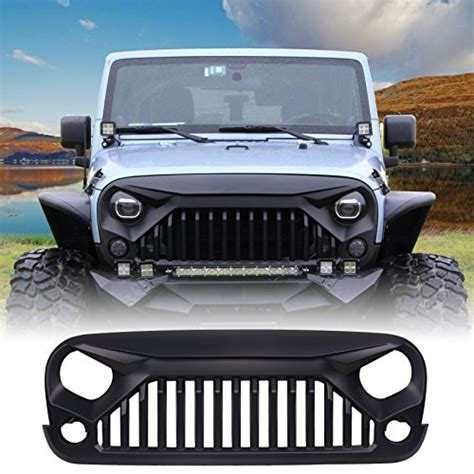 matte black jeep 2017 u max front matte black gladiator grid grill for jeep