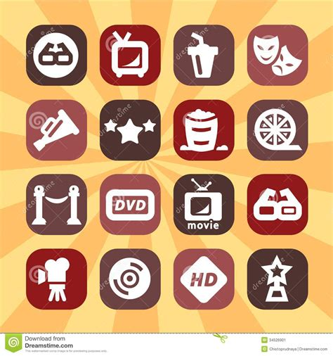 colors documentary free color cinema icons set stock image image 34526901