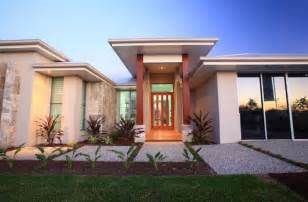 Country Style Homes Plans entrance exteriors single storey home designs