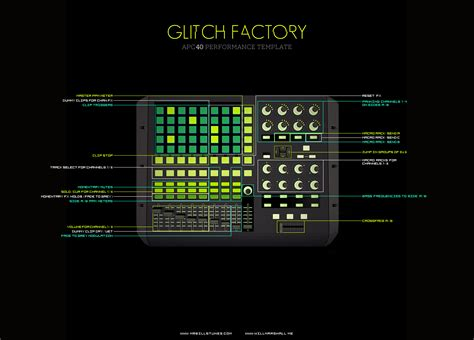 ableton apc40 dj template glitch factory apc40 performance template by bill and will