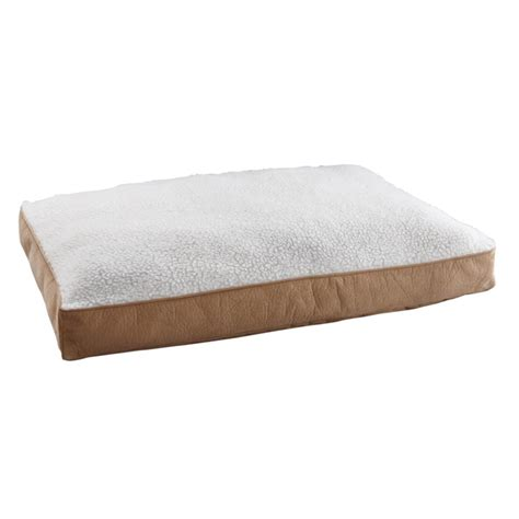 animal planet dog bed animal planet new beige micro suede sherpa pillow memory foam dog bed l bhfo