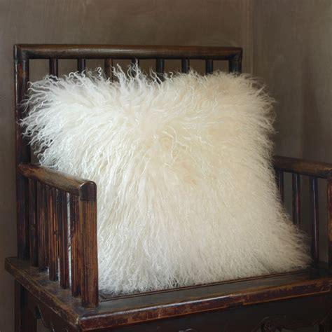 Mongolian Lambswool Pillow by Mongolian Pillow Decorative Pillows