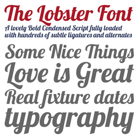 dafont lobster image gallery lobster typeface