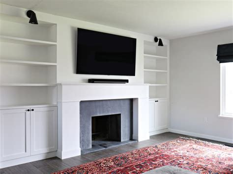 Built In Bookcases Next To Fireplace Fireplace Renovation The Built In Shelves The Vintage