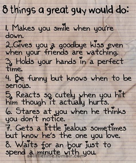 7 Things I Notice On Guys by I Want A Who Would Do Those Great Things All The