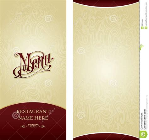 restaurant menu card design templates menu design template stock illustration image of decorate
