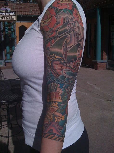 nautical sleeve tattoos tremendous nautical tattoos on right sleeve 187 ideas