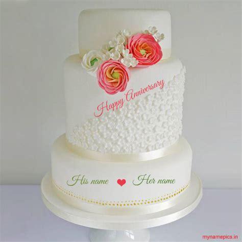 wedding anniversary cake with name happy wedding anniversary cake with your name