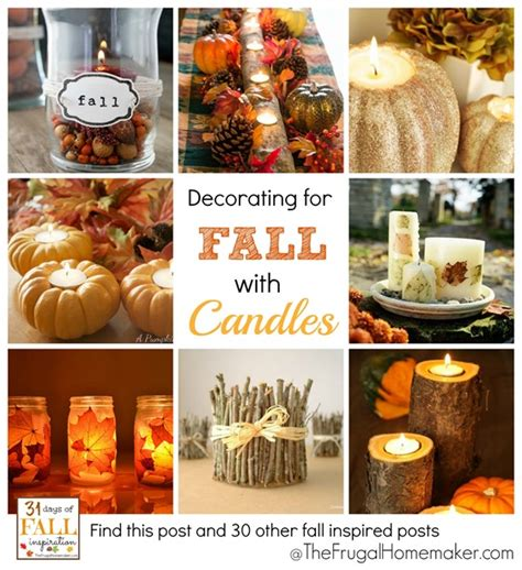 31 days of fall inspiration decorating with candles