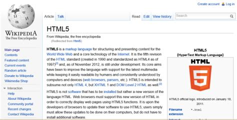 layout of a wikipedia page create the future common techniques in responsive web
