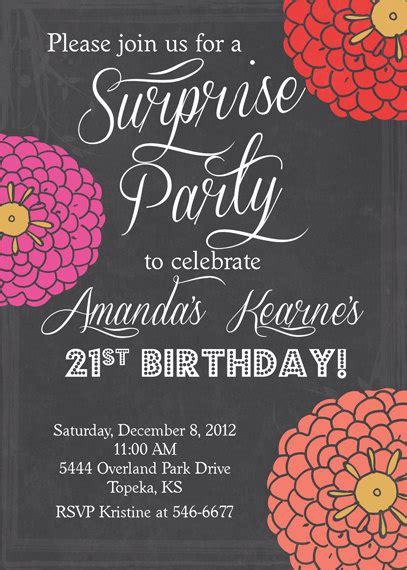 free birthday invitations templates for adults 8 best images of printable invitations for adults