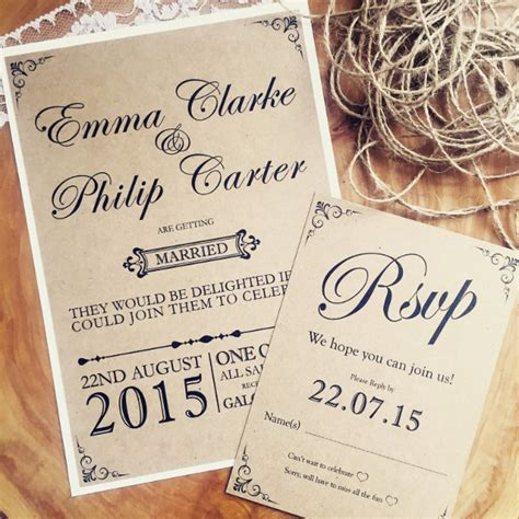 28 rustic wedding invitation templates free sle