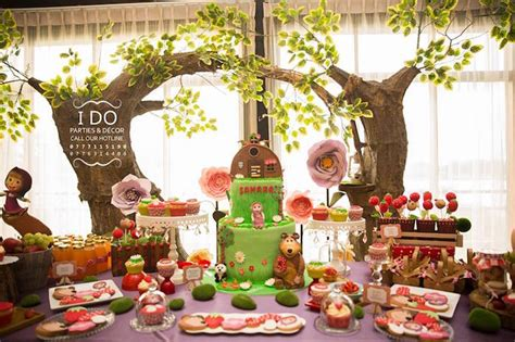 Boy Baby Shower Ideas On A Budget by Kara S Party Ideas Dessert Spread From A Masha Amp The Bear