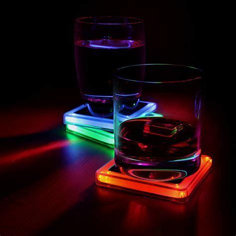 Radioactive Elements Glowing Coaster Set   ThinkGeek