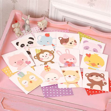 Small Handmade Greeting Cards - aliexpress buy animal mini greeting cards for