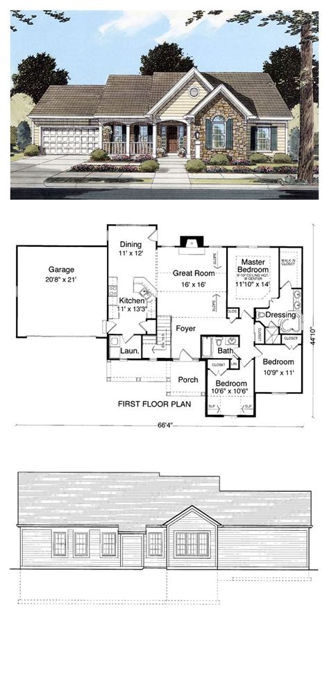 house plans cool 16 best images about ranch house plans on pinterest