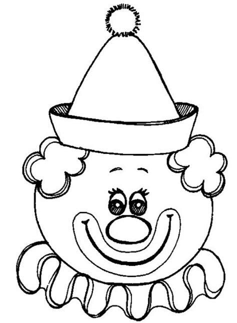 dibujos infantiles para colorear de payasos caricaturas de caras de payasos para colorear imagenes