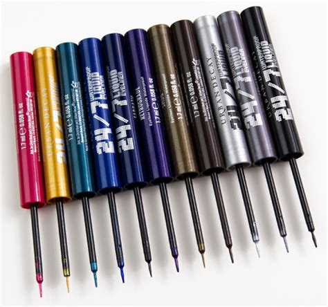 Eyeliner Decay decay 24 7 liquid eyeliners swatches photos review dupes