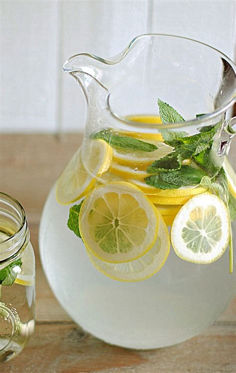 Honey Lemon And Mint Detox by Lemon Water With Fresh Mint Eat Yourself