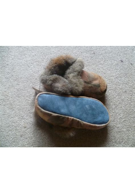 possum slippers possum fur moccasin slippers with soft leather sole