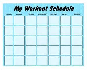 workout plan template 4 workout schedule templates