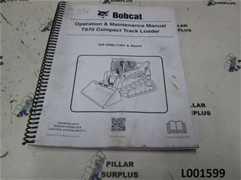 Bobcat Operation Amp Maintenance Manual For T870 Compact