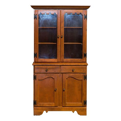 Vintage Ethan Allen China Cabinet Display Hutch Chairish