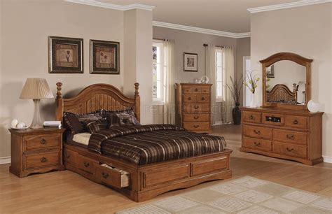 light brown bedroom light brown pine finish classic bedroom w storage bed
