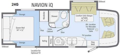 itasca rv floor plans itasca navion iq 24g rvs for sale