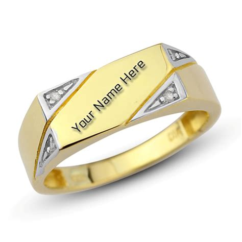 Ring Nama write name on engagement gold ring for