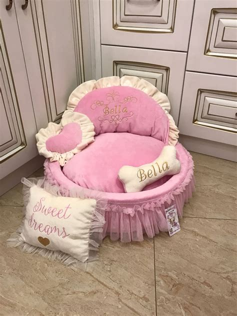 princess dog bed boutique dog puppy pink princess crown royal princess diva