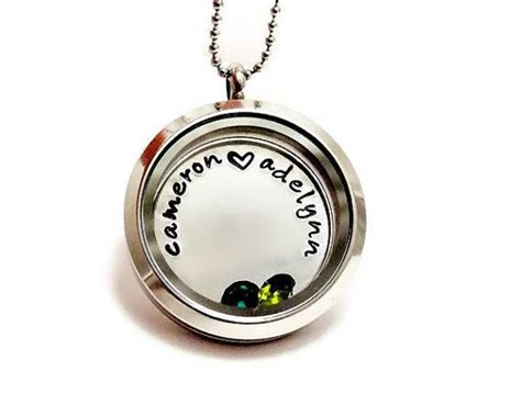 Companies Similar To Origami Owl - living locket floating charm locket with birthstones