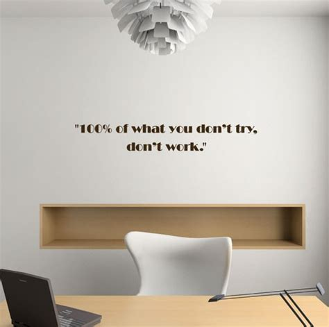 Baseball Murals For Walls wall decal don t try don t work quotes wall stickers
