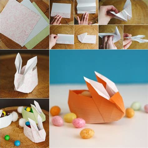 Origami Rabbit Tutorial - diy easy paper origami bunny box fab diy