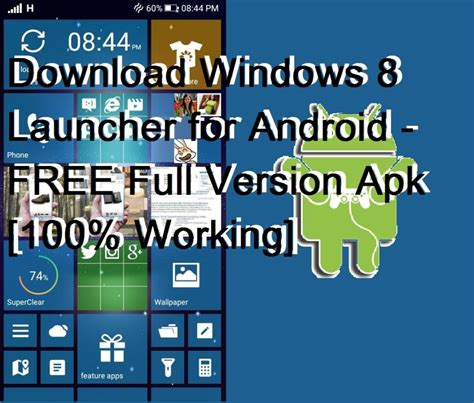 free android version windows 8 launcher for android free version apk 100 working