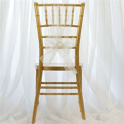 cheap white chair sashes 5 pcs wholesale white organza chair sashes tie bows