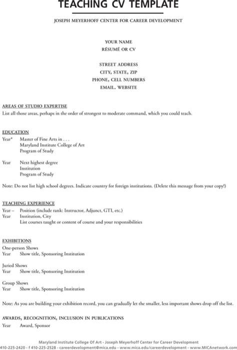 cv template download teacher download teaching cv template for free formtemplate