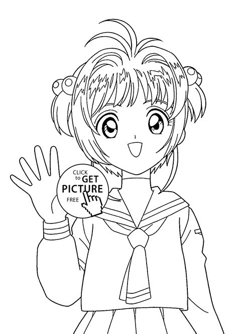 kids coloring pages printable anime fox girl coloring home anime girl coloring pages for kids free