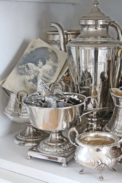 decorating  antique silver find   antique silver trays dishes tea sets
