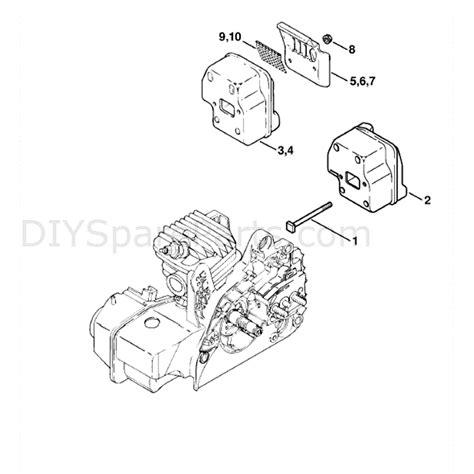 stihl ms 210 parts diagram stihl ms 210 chainbsaw ms210c b parts diagram muffler