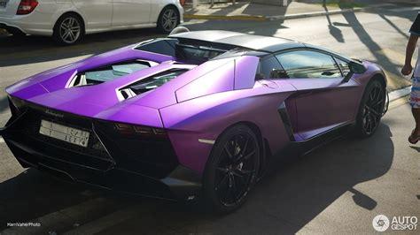 lamborghini aventador purple matte purple lamborghini aventador lp 700 4 50th roadster