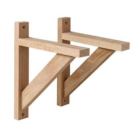 oak shelf brackets traditional oak single