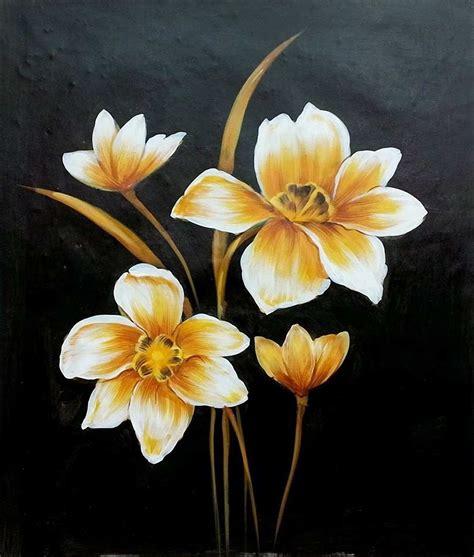 gambar bunga  mudah  gambar lukisan bunga  pohon