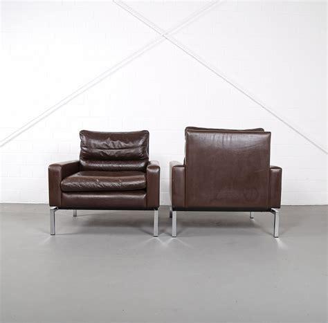 70er Gebraucht by Wilkhahn Programm 800 Leather Sofa Ledersofa 70er Design