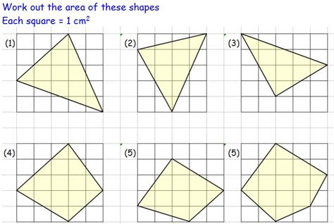 Area Of Shapes Worksheet by Area Maths Teaching