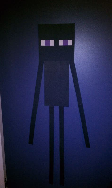 How To Make A Paper Enderman - enderman 183 a hanging 183 construction and decorating