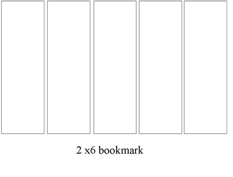 photo bookmarks templates 2x6 bookmarks templates bookmarks